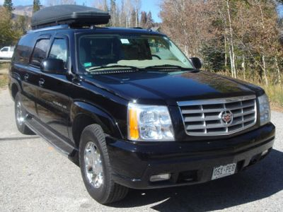 Fleet limo with roof rack and lock box, 4wheel drive SUV Cadillac Escalade