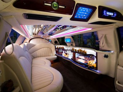 Extreme luxury limo interior at Stagecoach Limos